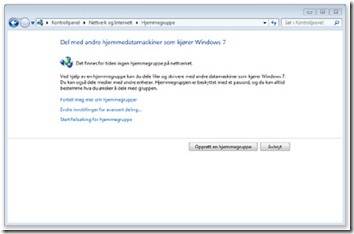 Windows 7 - hjemmegruppe