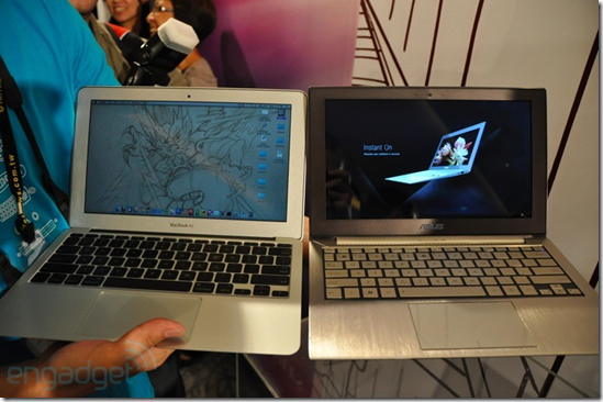 Asus UX21, Macbook air apple